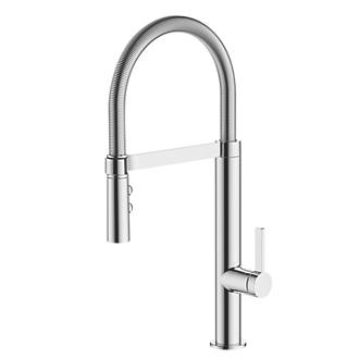 Image of Watersmith Heritage Turin Pull-Out Spray Mono Mixer Kitchen Tap Chrome