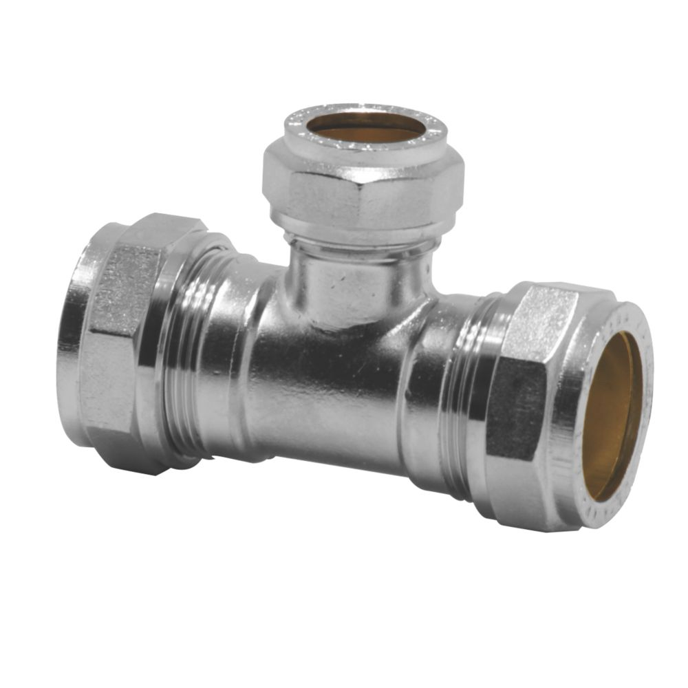 Image of Pegler PX50CCP Reducing Tee 22mm x 22mm x 15mm