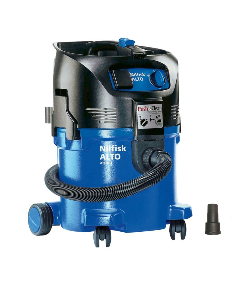 Image of Nilfisk Attix 30-21PC 1200W 30Ltr Wet/Dry Vac Cleaner & Dust Extractor 240V