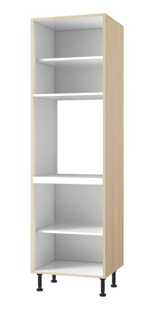 Single Tall Kitchen Cabinet Oak Kitchen Tall Single Oven Housing Cabinet 600 X 570 X 2115Mm