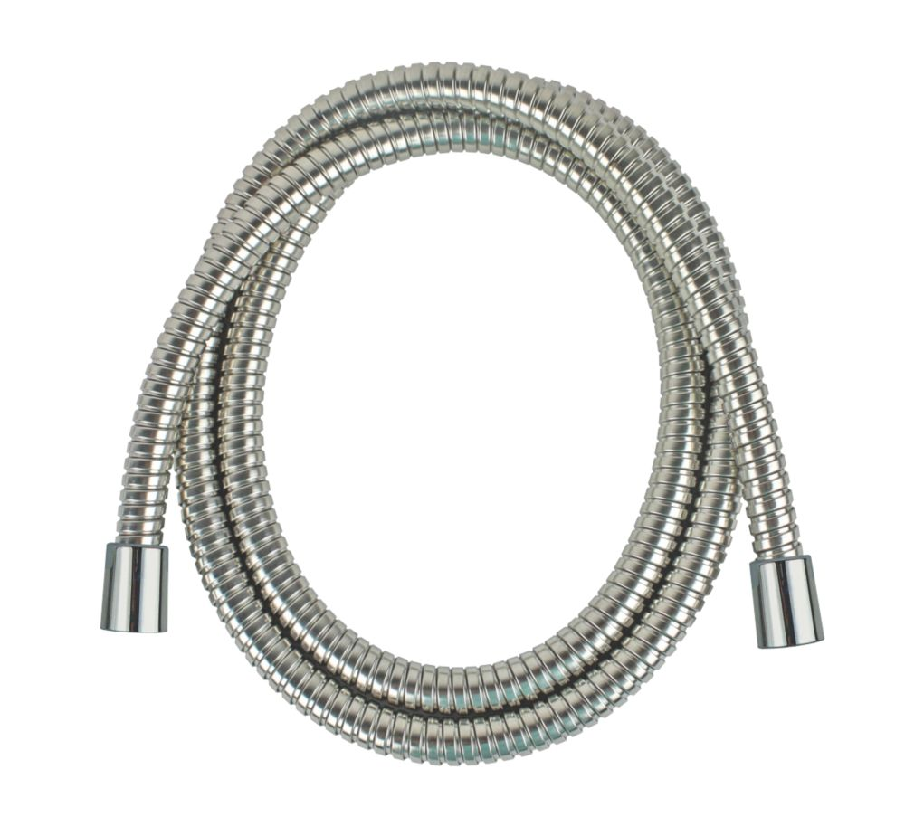 Image of Moretti Brass Shower Hose Flexible Chrome 9mm x 1.75m