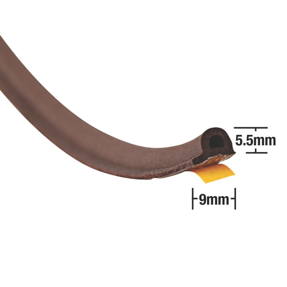 Image of Stormguard EPDM Rubber P Strip Brown 20m