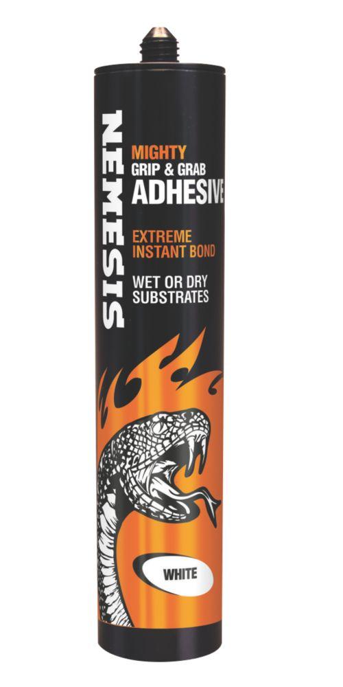Image of Nemesis Mighty Grip & Grab Adhesive White 290ml