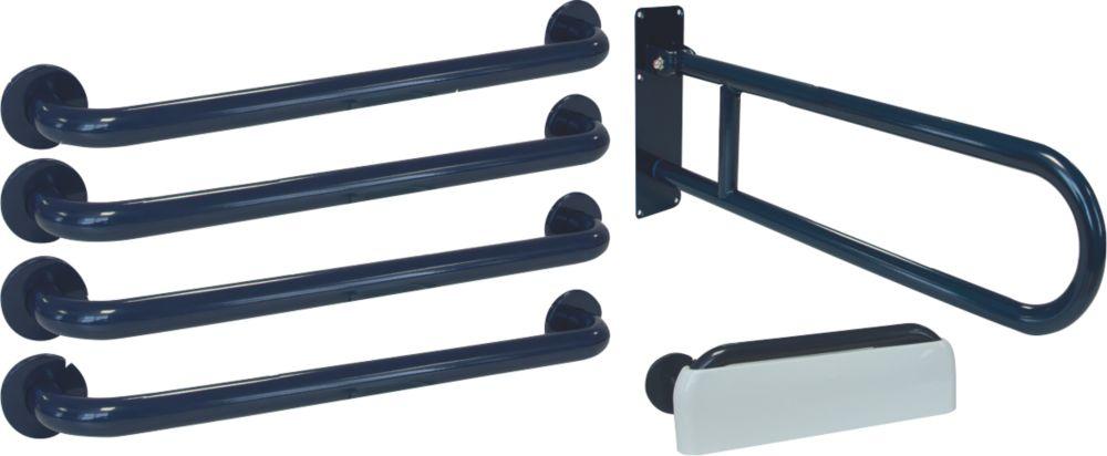 Image of Franke Doc M Bathroom Disability Grab Rails & Rests 6 Piece Set