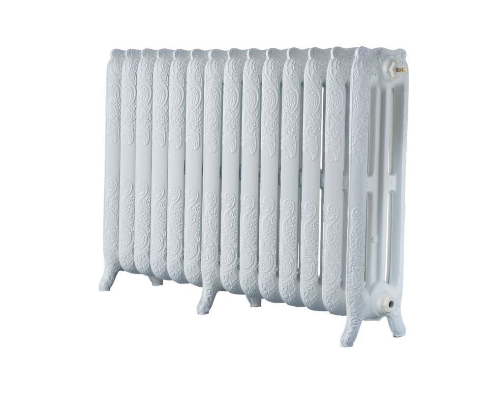 Image of Arroll 3-Column Cast Iron Radiator 760 x 1154mm White