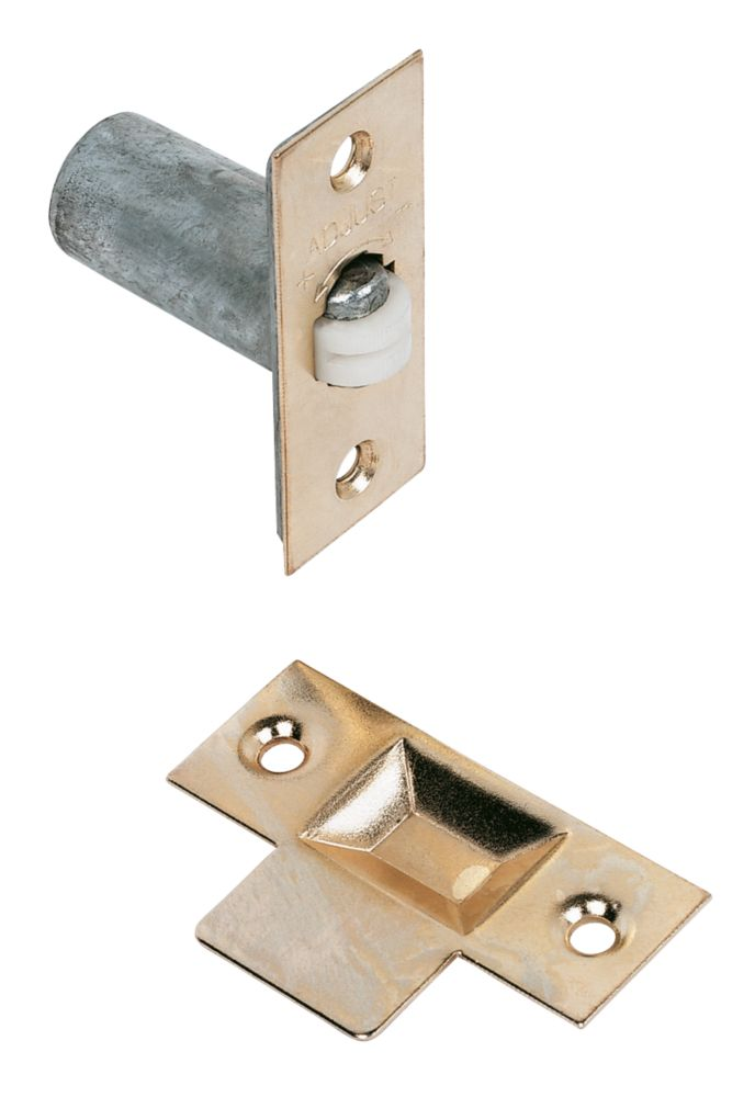 Image of Adjustable Roller Catch Electro Brass 23mm 5 Pack