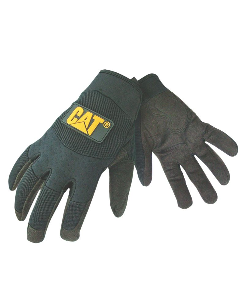 Image of CAT Mechanic Mechanic's Gloves Black Large