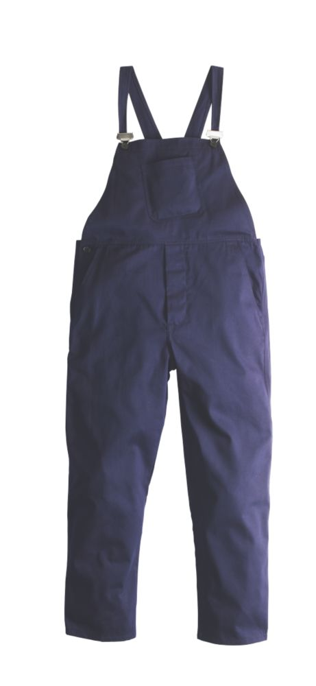 "Image of WorkSafe Bib & Brace Navy Medium 36"" W 31"" L"