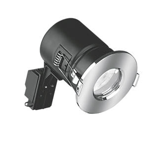 Image of Enlite Fixed Fire Rated LED Downlight Polished Chrome 520lm 5W 240V