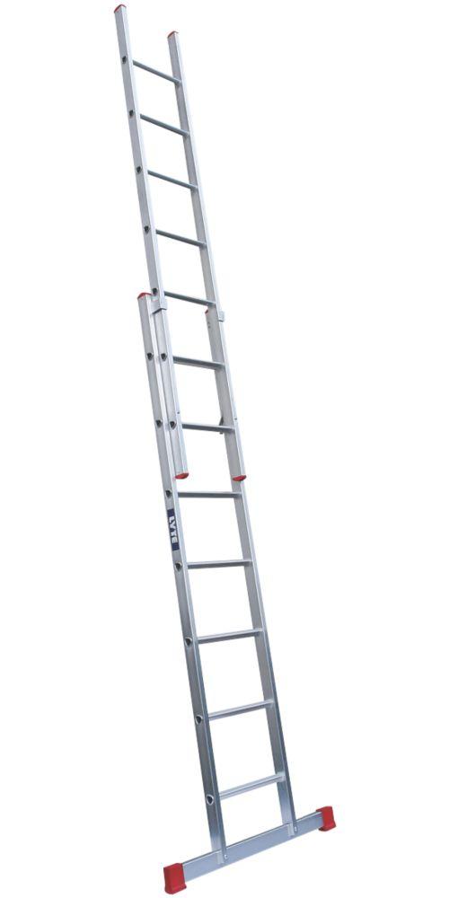Image of Lyte 2-Section Aluminium Domestic Ladder 8.1m