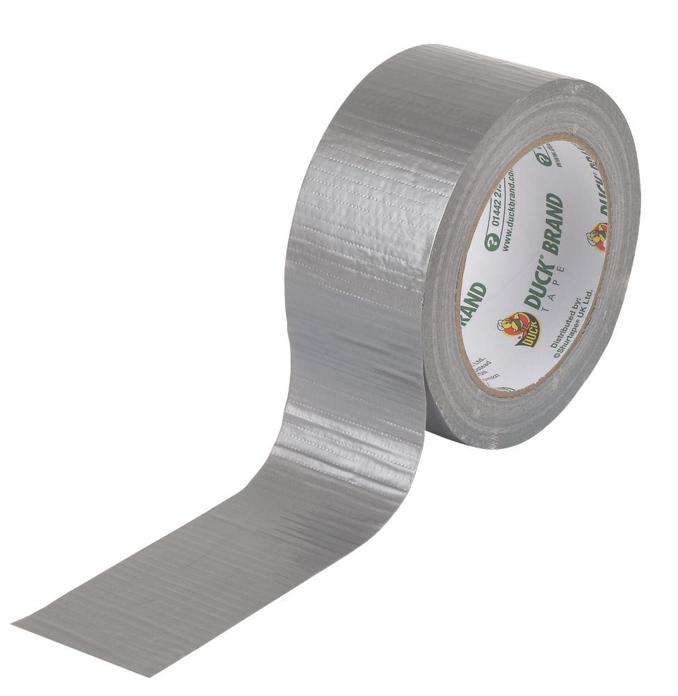 Image of Duck Original Cloth Tape 50 Mesh Silver 50mm x 25m