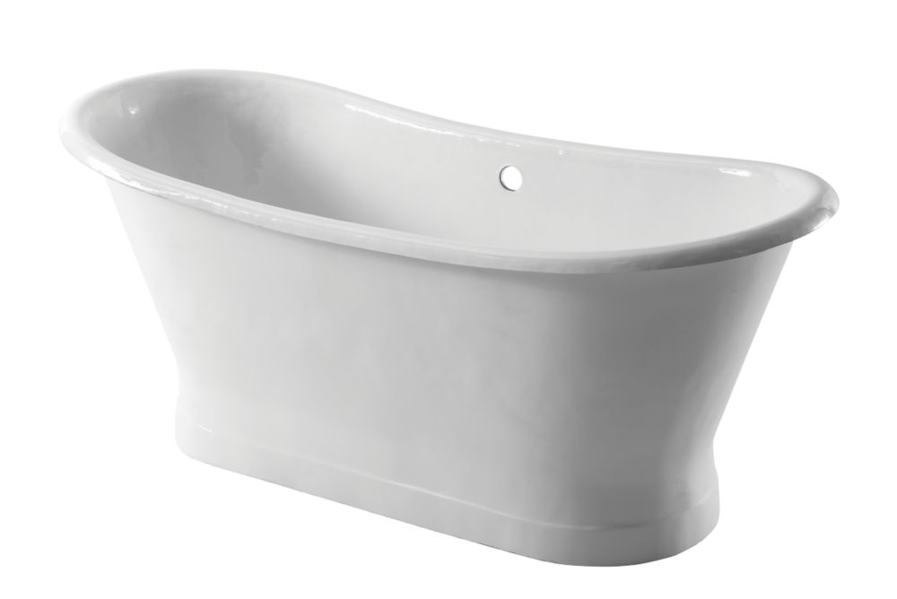 Image of Arroll Double-Ended Bath Cast Iron No Tap Holes 1710mm