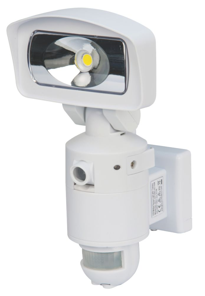 Image of Nightwatcher NE400W 16W LED Light & HD Camera PIR White 4GB