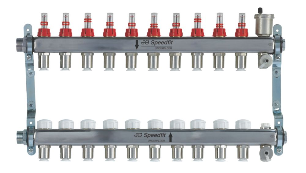 Image of JG Speedfit 10-Port Manifold Set Chrome