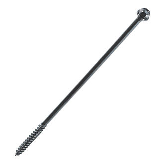 Image of FastenMaster TimberLok Flange Structural Timber Screws Black 6.3 x 250mm 12 Pack