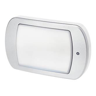 Image of Brackenheath ispot Lozenge LED Driverless Emergency Bulkhead White / Silver 10W