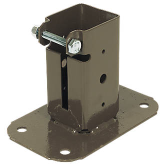 Image of Sabrefix Bolt-Down Post Supports 50 x 50mm 2 Pack
