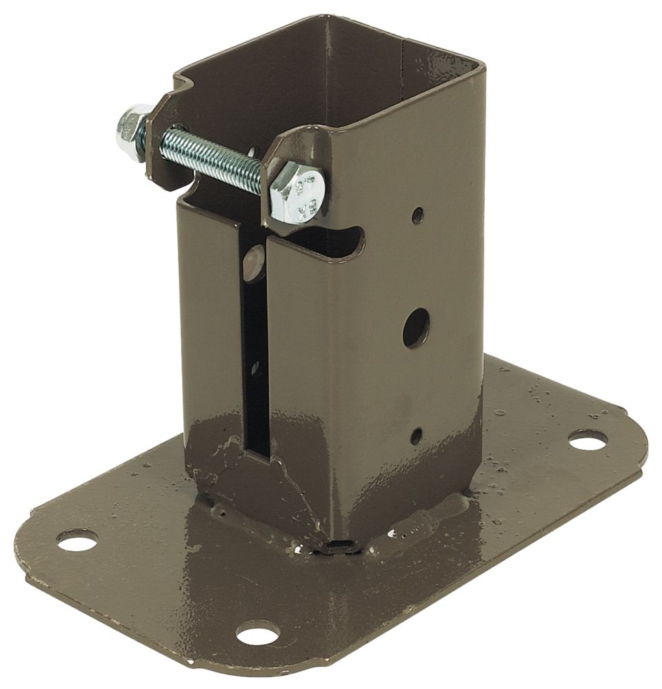 Image of Bolt-Down Post Supports 50 x 50mm 2 Pack