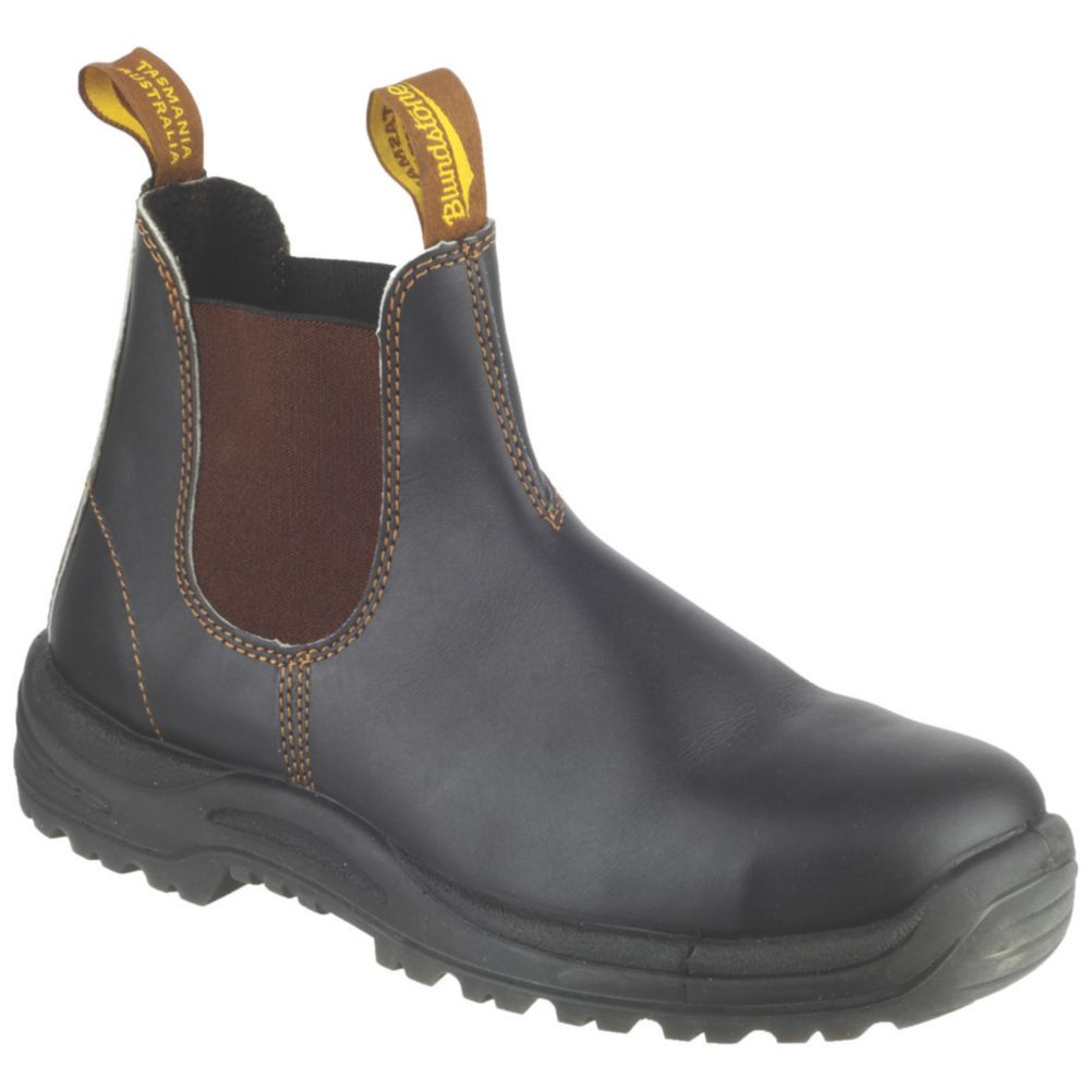 Image of Blundstone 192 Safety Dealer Boots Brown Size 9