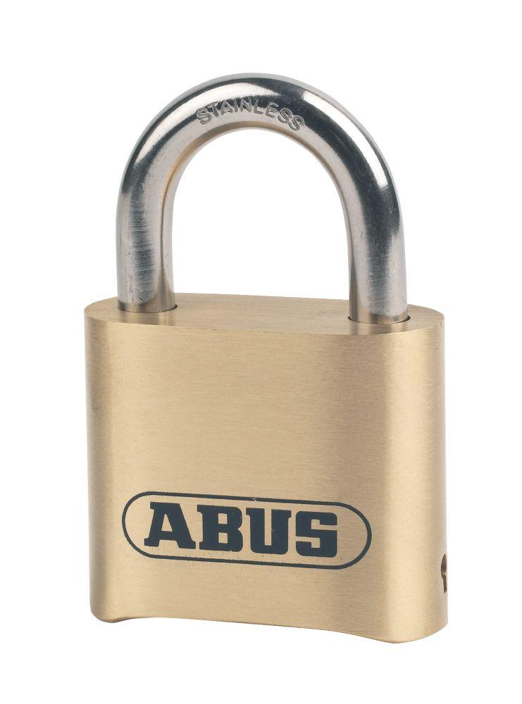 Image of Abus Weatherproof Combination Padlock Brass 53mm