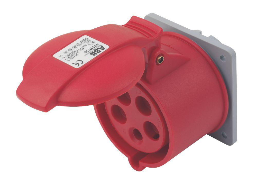 Image of ABB Panel Socket 32A 4P+E 415V 6H IP44