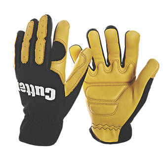 Image of Cutter CW700 Anti-Vibration Gloves Black / Yellow Large
