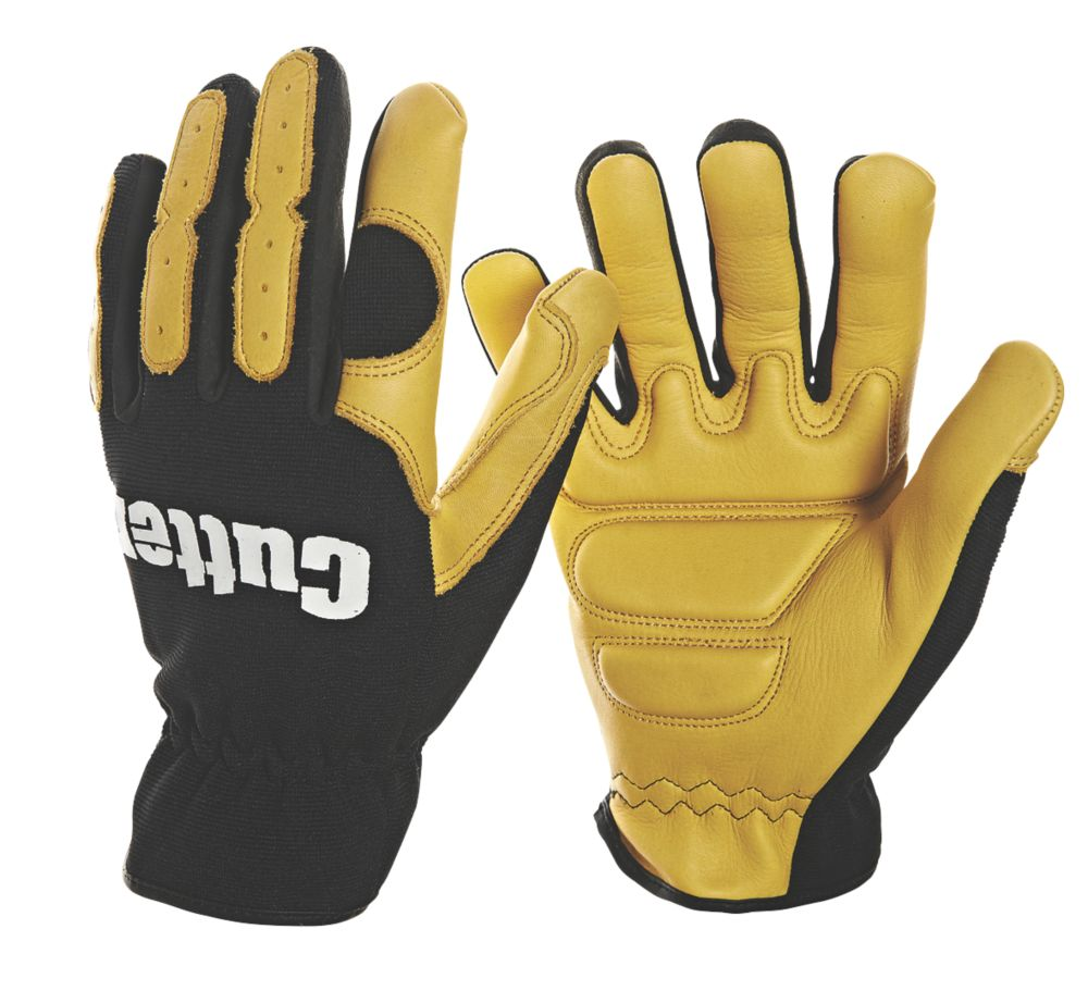 Image of Cutter Anti-Vibration Gloves Black / Yellow Large