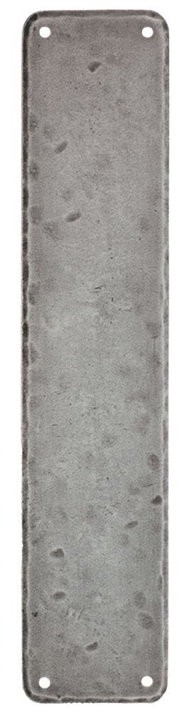 Image of Carlisle Brass Hand-Forged Push Plate Pewter Effect 65 x 315mm