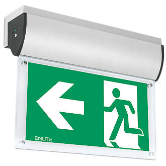 Image of Enlite Maintained or Non-Maintained LED Emergency Wall-Mounted Exit Sign without Legend 7W