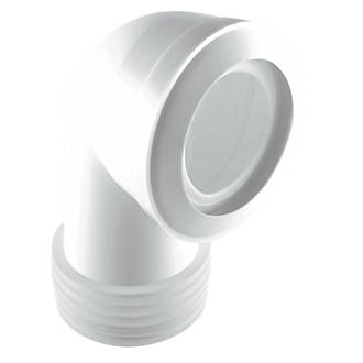 Image of McAlpine MACFIT MAC-8 90° WC Short Pan Connector White 90-112mm