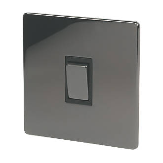 Image of LAP 10AX 1-Gang 2-Way Light Switch Black Nickel with Black Inserts