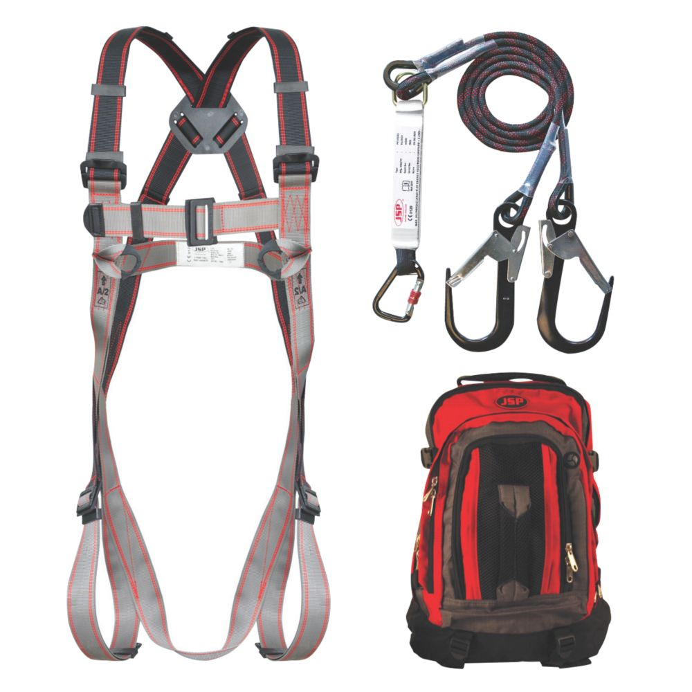 Image of JSP Pioneer Twin Tail Fall Arrest Kit with 2m Lanyard
