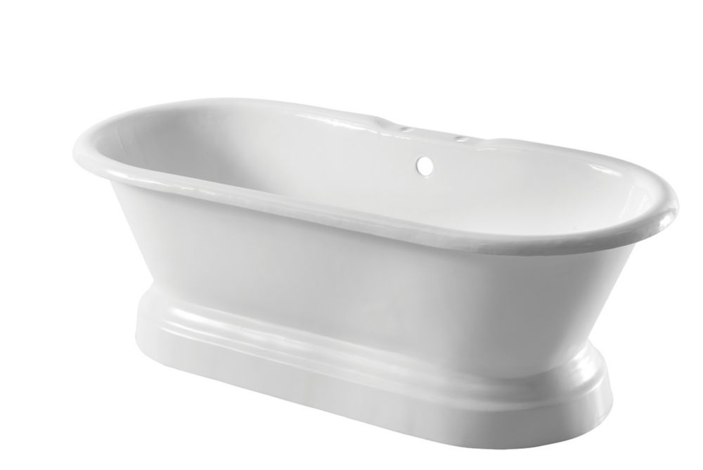 Image of Arroll Double-Ended Bath Cast Iron 2 Tap Holes 1676mm