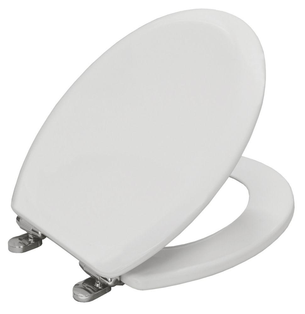 Image of Carrara & Matta Elwood Soft-Close Toilet Seat Moulded Wood White