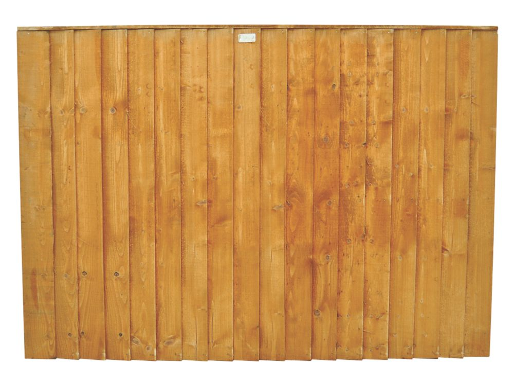 Image of Forest Feather Edge Fence Panels 1.82 x 0.9m 4 Pack