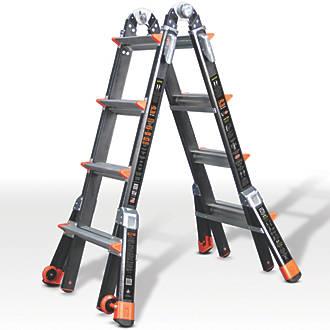 Image of Little Giant Dark Horse 2-Section Fibreglass Multipurpose Ladder 4.2m