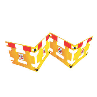 Image of Addgards Handigard 4-Panel Barrier Yellow w/Red & White Stripe