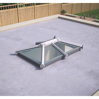 Image of ATT Fabrications Ltd Clear Glass Roof Lantern White 1500 x 1000mm