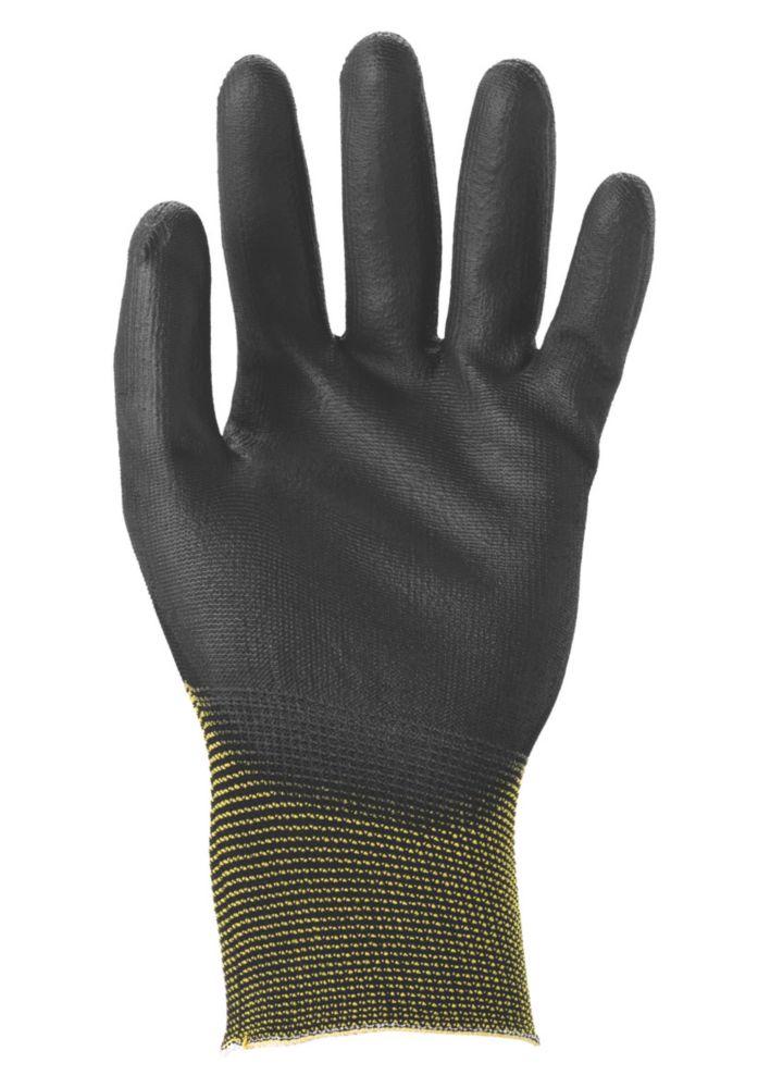 Image of Ansell Sensilite Sensilite 48-101 Nylon PU-Coated Gloves Black Large