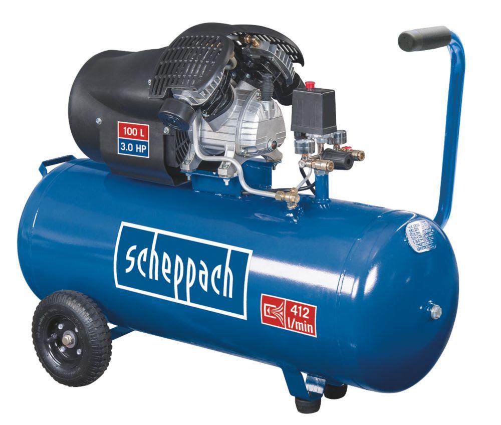 Image of Scheppach HC100DC 100Ltr Twin Cylinder Air Compressor 230V