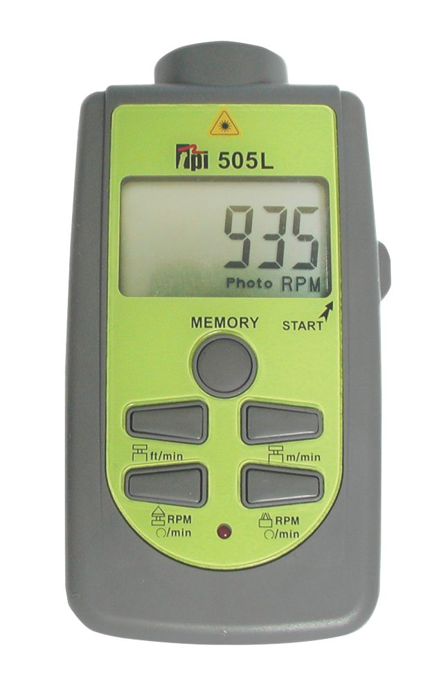Image of TPI 505L Combination Laser & Contact Tachometer