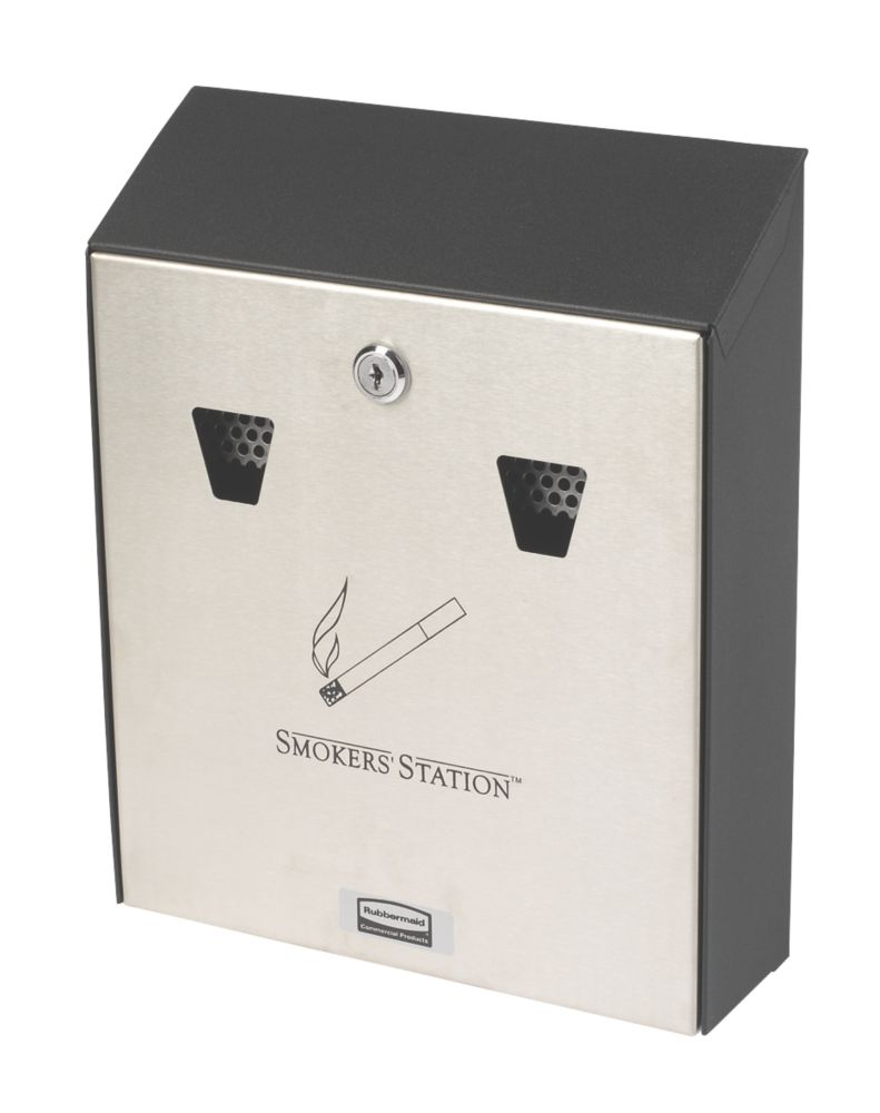Image of Rubbermaid Wall-Mounted Cigarette Station