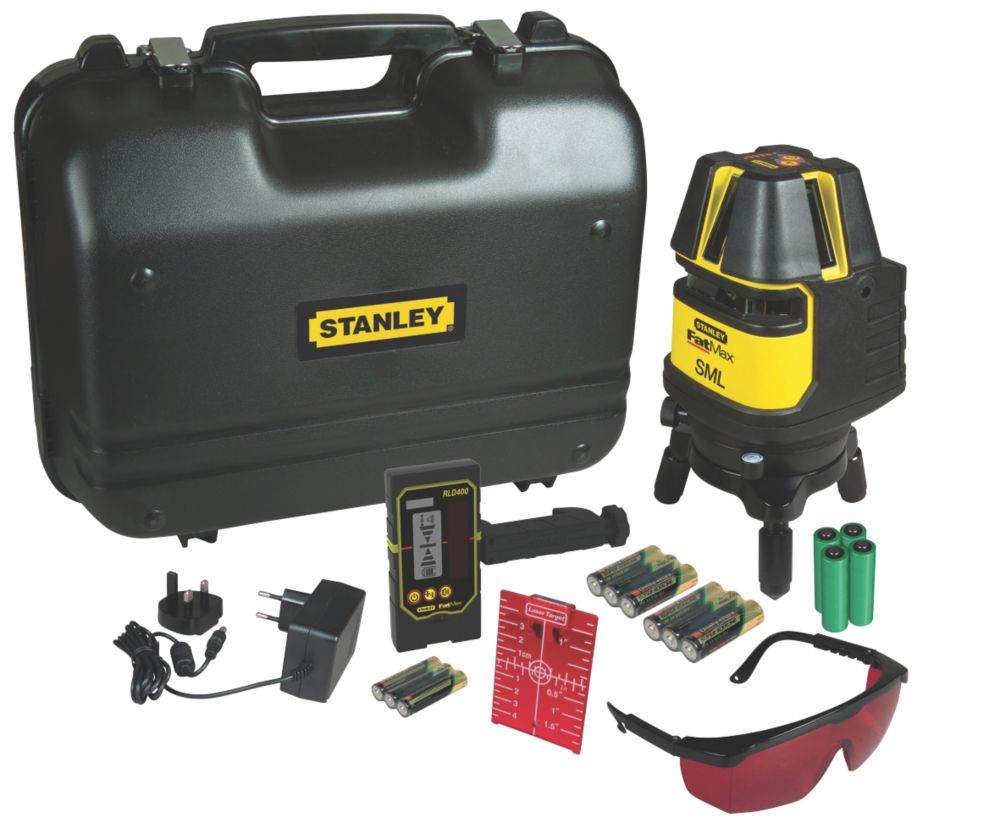 Image of Stanley FatMax 1-77-322 Multi-Line Laser Level with Detector