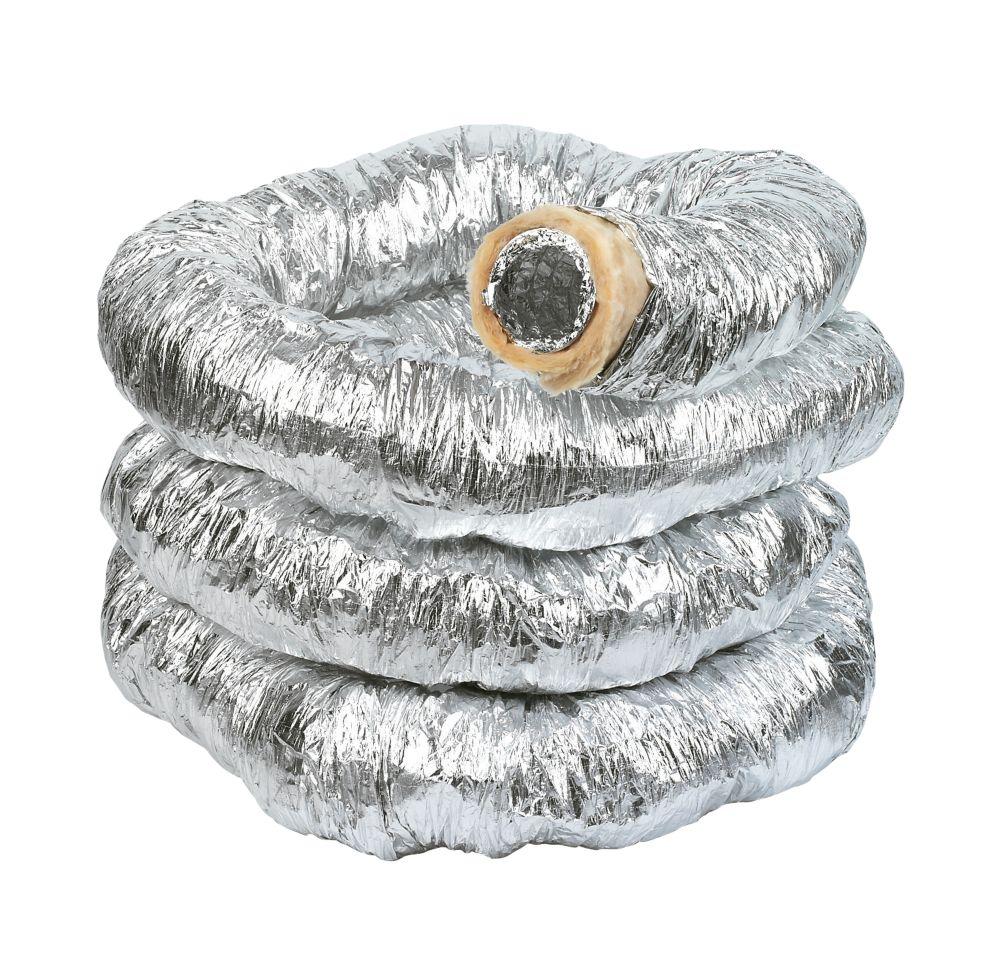 Image of Manrose Aluminium Insulated Flexible Ducting Hose Silver 10m x 102mm