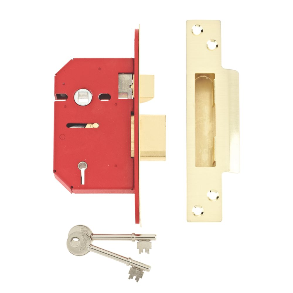 "Image of Union 5-Lever 5-Lever Mortice Sashlock Brass 2"" / 64mm"