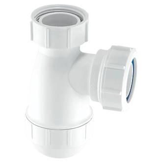 Image of McAlpine Basin Bottle Trap White 32mm