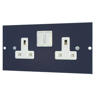 Image of Schneider Electric 13A Twin Switched Socket Outlet 173 x 87mm