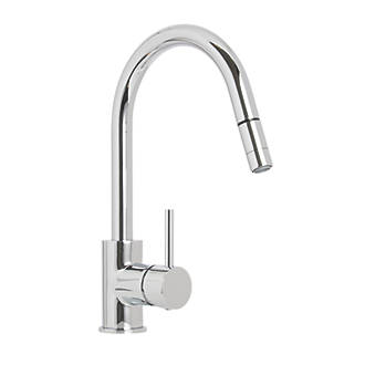 Cooke and Lewis 32A Pull-Out Spray Mono Mixer Kitchen Tap Chrome ...