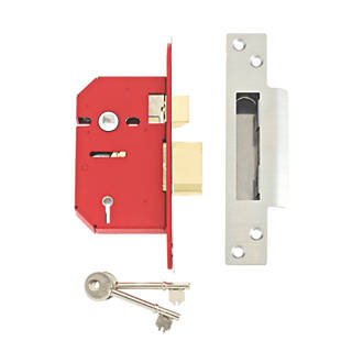Image of Union 5 Lever Stainless Steel 5-Lever Mortice Sashlock 68mm Case - 45mm Backset
