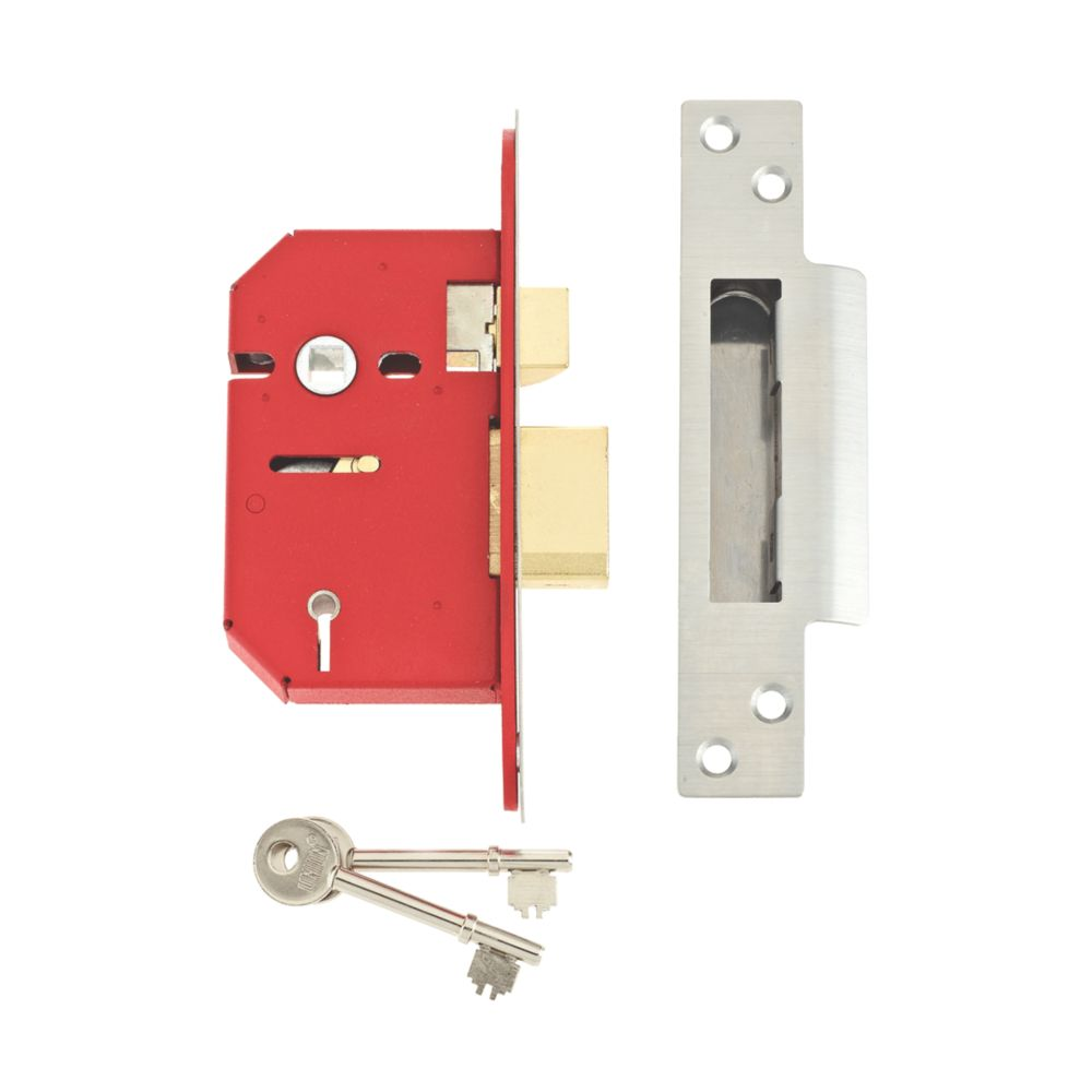 "Image of Union 5-Lever 5-Lever Mortice Sashlock Stainless Steel 2"" / 64mm"
